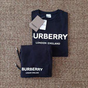Burberry Men New Season T-shirt Sweatpants Set